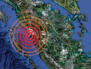 peta lokasi gempa sumbar
